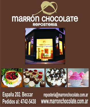 Reposteria. marron chocolate